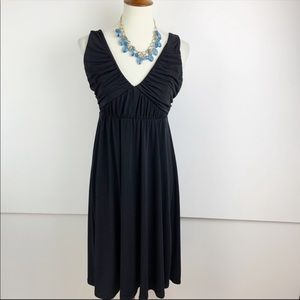 Max and Cleo Black Sleeveless Fit & Flare Dress SM